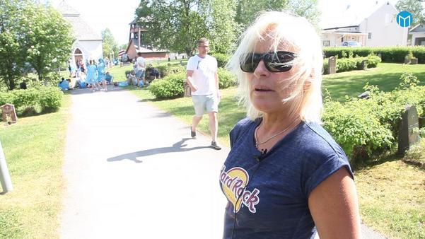 Agneta Roberts är folkhälsosamordnare i Härjedalen och var med och ordnade flashmoben.