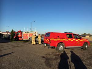 En man fördes till sjukhus efter en olycka i Floby