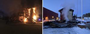Det blev stora skador på Kalix IP efter branden. Bild: Kalix Bandy