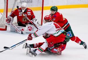 Modo och Frölunda gjorde upp i förra årets SM-final i J18-slutspelet.  Bild: K-G Z Fougstedt/Bildbyrån
