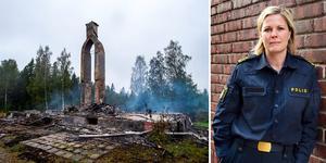 Det är fortfarande oklart hur branden i Flärke startade. Josefine Perming Tengqvist, tillförordnad gruppchef vid grova brott på polisen i Västernorrland berättar att man jobbar för fullt med att undersöka händelsen.