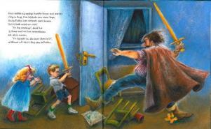 """Nyutgåvan av """"Ingen rövare finns i skogen"""" innehåller nya teckningar från Ilon Wikland, 80 år, som tidigare illustrerat bland annat """"Ronja Rövardotter"""".Illustration: Ilon Wikland"""