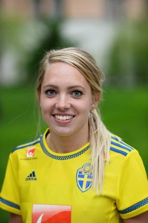 Elin Rubensson, vanligen i Kopparbergs/Göteborgs FC, har gjort nära 50 mål i sin juniorkarriär. Den 22-årige mittfältaren gjorde sin landslagsdebut 2012.