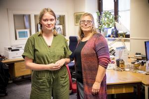Konkursbeskedet kom som en total överraskning för redaktionschefen Agnetha Brolin och reportern Ebba Pettersson.
