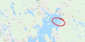 Stabergs Ö, i östra delen av Runn, är Falu kommuns senaste naturreservat. Foto: Google Maps