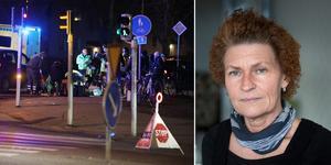 I dag meddelades domen där cyklisten Magnus blev svårt skadad efter att ha blivit påkörd av en bilist i november förra året. Hans fru Ann-Sofi Staaf tycker att  böter, som bilisten dömdes till, är ett lågt straff. (Olycksbilden är tagen av Roger Nilsson.)