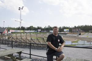 Mikael Teurnberg på HZ Bygg Arena efter att han meddelat sitt beslut om att avgå.
