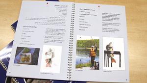 Elever från Arenaskolan har bidragit med teckningar till receptboken.