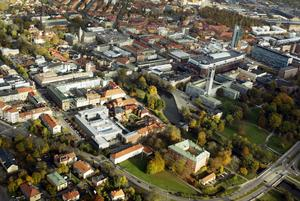 Västerås har vuxit genom historien.                                                       Foto: Göran Widerberg