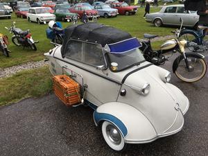 Det här fina Messerschmitten kunde beskådas på Classicmotorträffen i Ånnaboda sommaren 2019. Nu läggs det populära veteranbilsevenemanget ned.