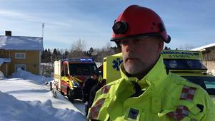 Tommy Lindgren, räddningsledare på plats.