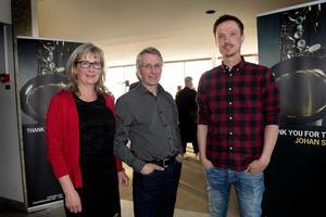 Marie och Anders Reher var på konserten tillsammans med kompisen Fredrik Bergkvist.