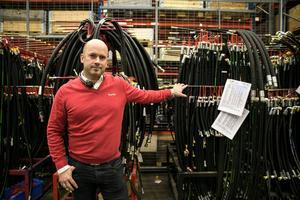 Lars Strömsund är marknads- och försäljningsansvarig hos Log Max, ett Grangärdeföretag med 73 anställda.