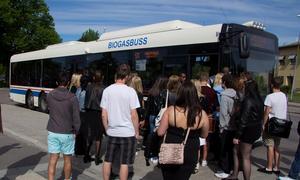 Buss 511 Hallstahammar-Västerås.Arkivfoto: Mikael Johansson