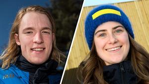 Sebastian Samuelsson och Ebba Andersson – gymnasiepolare. Foto: Petter Arvidson/Carl Sandin (Bildbyrån).