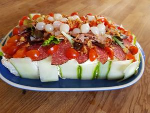 Smörgåstårta med bacon. Foto: Laila Westling