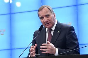 Statsminister Stefan Löfven. Foto: TT.