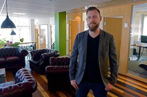 Anders Härén, produkt -och teknikchef på Leeroy. Här på kontoret i Sundsvall, där största delen av företaget sitter.