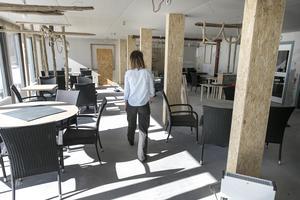 Restaurangen som håller på att färdigställas har plats för 100 sittande gäster.
