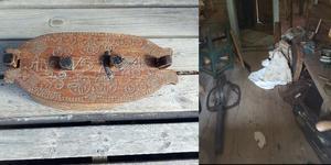 Ett av föremålen som försvann vid inbrottet är en svepask från slutet av 1600-talet.