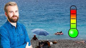 Foto: Foreca/Erik Johansen, TT Meteorologen Erik Rindeskär anser att det inte är någon mening att åka till de populära semesterorterna i Europa då Västernorrland slår dem i värmekonkurrens.