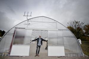 Nya växthuset på Frilandet kommer inredas som festlokal.