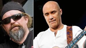 Lasse Holmgren, vänster, och rockmusikern Dan Reed, höger.