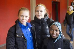 Molly Ek, Smilla Strand, Ilham Ahmed spelar i Hofors AIF F07-08.
