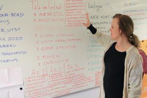 Vid Johanna Syréns arbetsplats är fokus helt riktat på nya projektet.