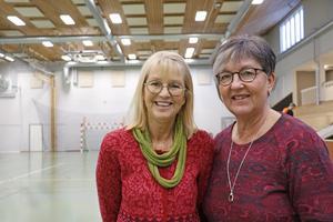 Renoveringen av sporthallen och den nya matsalen är ett lyft för hela Kyrkbacksskolan, tycker rektorerna Karin Alstermark och Anne-Marie Hägglund.
