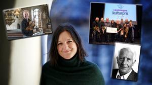 Bland tidigare pristagare finns Karin Härjegård, Bengt-Eric Norlén, Östersundsrevyn och Carl-Göran Ekerwald.  Foto: Henrik Flygare, Sara Strömberg, Cato Lein och Malin Palmqvist