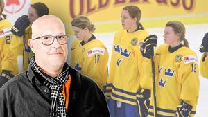 Hockeypuls Erik Sandberg tror på en förändring för landslagsspelarna i Damkronorna. Bild: TT Nyhetsbyrån.