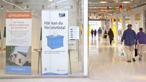 Under valet 2014 kunde man förtidsrösta i Sjötelegrafen. Det kan man göra i år också.