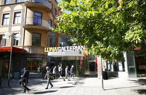 Skribenten har noterat tomma lokaler i Lunagallerian.