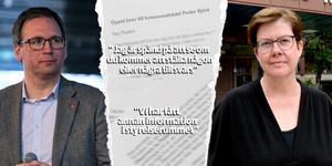 I ett brev till kommunalrådet Peder Björk (S) riktar tidigare styrelseledamoten Leif Johanson hård kritik mot Björk och kommundirektören Åsa Bellander angående hanteringen av Näringslivsbolaget.