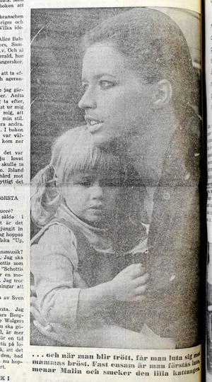 Lill-Babs tillsammans med dottern Malin.