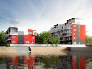 En fyrarummare i byggprojektet Concordia 2 kostar 4 595 000 kronor.  Lägenheten är på 104 kvadratmeter i två plan. 12 av 30 lägenheter i projektet är sålda i dagsläget.