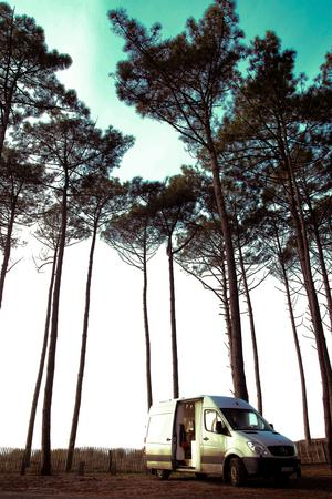 Parkerad i La Teste-de-Buch i Frankrike. Foto: Sandra Piitulainen