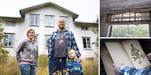 Cissi, Uffe och Alfred Gustavsson Sahlström ska göra ödehuset i Råbacka – som stått obebott i många år – till sitt hem.