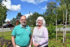 Gunnar Bergman, PRO Frösön och Astrid Eriksson, PRO Körfältet hälsade besökare välkomna.
