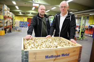 Olov Larsson, verksamhetsutvecklare och Erik Eriksson vd, Mattsson Metal.