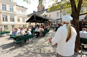 Rådhusgården i Falun öppnar den 4 maj. Arkivbild. Foto: Kjell Jansson
