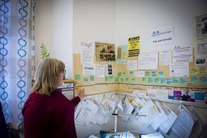 På en av väggarna i Agneta Ahlmark Näslunds kontor sitter en tidslinje som berättar om resan från starten av ungdomsrådgivningen.