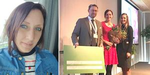 Maria Wiman prisades på Handelskammarens årsmöte i slutet av maj 2019. Foto: Privat