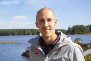 Lars Ljung från Söderhamn jobbar för Svenska olympiska kommittén.