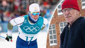 Farfar Ingvar blev förvånad över att Calle Halfvarsson bröt skiathlon-tävlingen. Foto: Carl Sandin/Bildbyrån, Oskar Magnusson