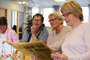 Maud Eriksson, Ingegerd Lundstedt, Agneta Nord Hansson och Sylvia Lindström (numera Brändfors) minns med glädje SM-finalåret.