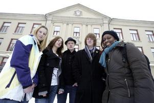 De fixar och underhåller under återvändardagarna på Karro. Från vänster: Sofia Höglund, Carina Jansson, Lucas Lundholm, Viktor Johansson och Fiona Akpan. BILD: ANDERS ERKMAN