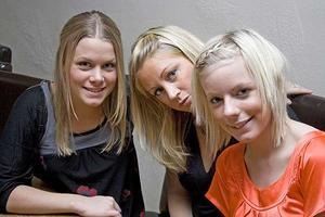 Tabazco. Elin, Lina och Sofie.