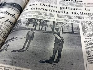 Ur NA 7 juni 1969: Det nya klubbhuset och de nya omklädningsrummen hade precis invigts, och Örebro golfklubb stod redo för att ta emot internationella tävlingar.